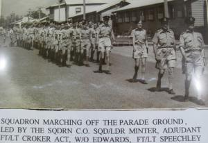 Cadets marching 10 EFTS